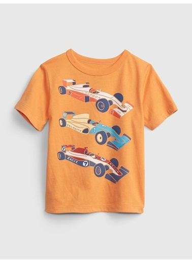 Gap Organik Pamuklu Grafik T-Shirt Oranj